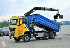 MAN flatbed truck TGS 33.440 Kipper 5,10m+Bordmatic+ Kran *6x6!
