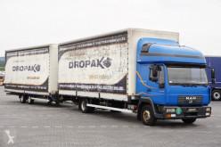 Camião reboque caixa aberta com lona MAN - 8.220 / ZESTAW PRZESTRZENNY / BURTO FIRANKA + remorque