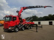 Scania R420 Pritsche+PK72002 12xhydr. Jib 4-Punkt Seil truck used flatbed