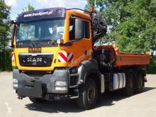 Camión volquete usado MAN TGS 28.400 6x4 Kipper Kran Hiab + Winterdienst