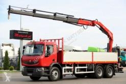 Ciężarówka Renault KERAX 430/6X4 /L:6,65M/CRANE FASSI F210/RADIO platforma używana