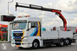 Ciężarówka platforma używana MAN TGX 26.440/6X2/BOX+CRANE PALFINGER 16001/RADIO
