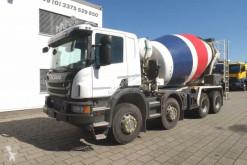 Scania betonkeverő beton teherautó P 370 8x4 Betonmischer Stetter 9m³ Mischer