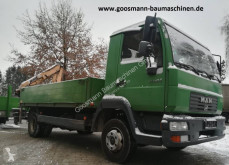 Kamión MAN LE180C mit Humbaur HT506124 und Ladekran MKG HLK45 korba ojazdený