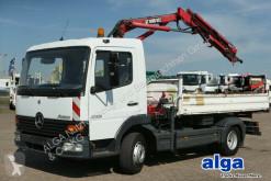 Camion benă trilaterala Mercedes Atego 815 K Atego 4x2, Kran Hiab 052-2, Kugel-AHK