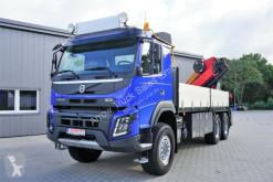 Camion plateau Volvo FMX 460 6x6 - Kran PK 27001 EH - Funk