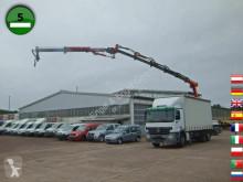Mercedes tarp truck ACTROS 2536 L 6X2 TIRRE Kran Euro 222 19,6m KLIM