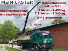 Camion MAN 18.280 4x4 V-Kran 7,9m-1.240 kg 5+6 Steuerkreis benne occasion