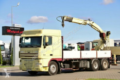 Ciężarówka platforma używana DAF CF 85.410/6X2/ BOX + CRANE FASSI F140/SADDLE /