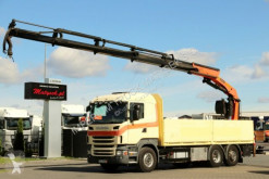 Camion Scania R 480/6X2/CRANE PALFINGER PK 21502/STEERING AXLE plateau occasion
