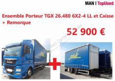 Camion MAN TGX Ensemble Porteur 26.480 6X2-4 LL+ Remorque plateau ridelles occasion