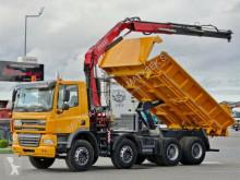 Camión caja abierta DAF CF 85.410/8X4/2 SIDED TIPPER/CRANE FASSI F135/
