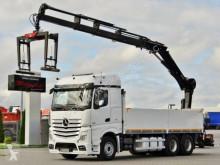 Mercedes AROCS 2651/6X4/BOX+CRANE HIAB 211/ RADIO/ EURO 6 truck used flatbed