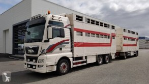 Camion cu remorca MAN TGX 26.480 transport bovine second-hand
