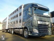 """Lastbil med anhænger anhænger til dyretransport DAF XF XF 480 """"Neu"""" SC mit Menke 3 Stock Komplett"""