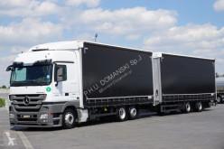 Ciężarówka z przyczepą firanka Mercedes MERCEDES-BENZ - ACTROS / 2544 / E 5 / ZESTAW 120 M3 / SPACE + remorque