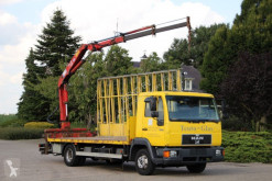 MAN 8.224 Glastransport KRAN! truck used flatbed