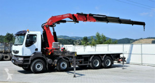 Ciężarówka platforma Renault KERAX 410DXI Abschleppwagen 6,30m+Kran/FUNK*8x4!