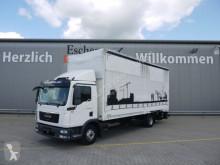 Camião caixa aberta com lona MAN TGL 12.220 BL, Edscha, Schiebeplane, Klima