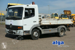 Camion ribaltabile trilaterale Mercedes 815 K Atego 4x2, Meiller Kipper, ABS, weiß