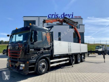 Camion Iveco 260S50 Stralis 8x2 Palfinger 27002 + Fly jib plateau ridelles occasion
