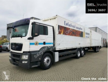 MAN beverage delivery box trailer truck TGS TGS 26.400 6x2-2 LL / Ladebordwand /mit Anhänger