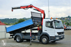 Mercedes three-way side tipper truck ATEGO 1529 Kipper 4,30m+Kran/FUNK* Topzustand!