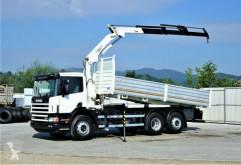 Camion plateau Scania 124L 420 Kipper 6,10m + Kran/FUNK*6x2*Topzustand