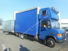 Camión remolque lona usado Mercedes Vario 818D mit HUMBAUR Anhänger Euro4 AHK ZV