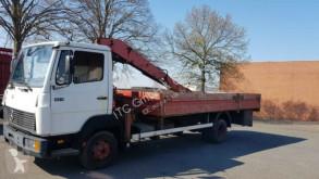 Camion plateau ridelles Mercedes 814 Pritsche mit Kran German Truck