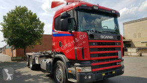 Used skip truck Scania 164-480 Abrollkipper