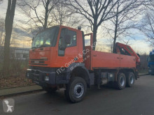 Camion cassone fisso Iveco 260EH38 6x6 Pritsche +Kran PK23080B Funk