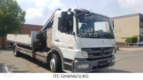 Camion plateau ridelles Mercedes 1222 Pritsche mit Kran Hab 85-3