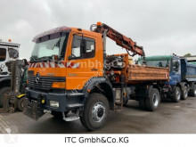Used tipper truck Mercedes 1823AK4x4 Kipper mit Kran Atlas 10,5Meter+Winter