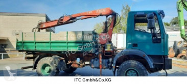 Camion benă trilaterala Iveco ML100-190PSAK 4x4 Kipper mit Kran