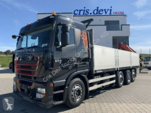 Camion plateau ridelles Iveco 260S50 Stralis 8x2 Palfinger 27002 + Fly jib