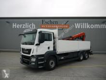 Camion plateau ridelles occasion MAN TGS 26.400 6x2,EU6,Lift/Lenk,Palfinger PK 21001L