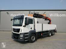 Camion platformă si obloane second-hand MAN TGS 26.400 6x2-4,EUR6,PK23002 SHD Falt,4-Stützen