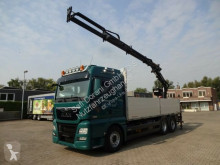 Camion MAN 26.480 Pritsche+ATLAS 165 3xHydr 5+6 Bed. 6x2 plateau ridelles occasion