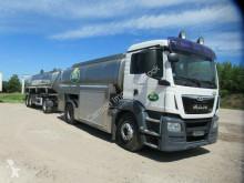 Camion cisternă transport alimente second-hand MAN 18.440 TGS Milchsammler, Euro 6, 3 x 4.500 Liter