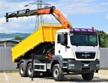 Camion plateau MAN TGS 26.400 Kipper 5.20m + Kran/FUNK *6x4