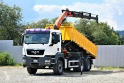 Camión MAN TGS 26.400 Kipper 5.20m + Kran/FUNK *6x4 volquete usado