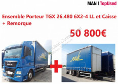 Camion MAN TGX Ensemble 26.480 6X2-4 LL + Remorque fourgon occasion