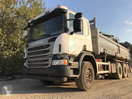 Scania P 410 truck used three-way side tipper