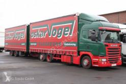 شاحنة مقطورة ستائر منزلقة (plsc) Scania G 410 Jumbozu Lenkachse Retarder Edscha