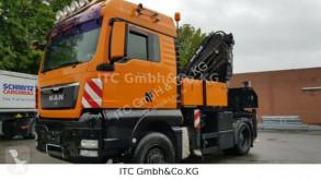 Camion plateau MAN TGX18440H 4x4 Pritsche +Kran Atlas 380-8 Funk