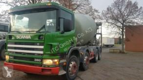 Camion Scania 114-380PS 8x4 9Qubik Stetter Euro:4 ZF-Schalte béton toupie / Malaxeur occasion