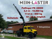 Camião Unimog U1750 U 1750 Lang PK 28000 2,3 m- 10.000 kg Seilwinde estrado / caixa aberta usado