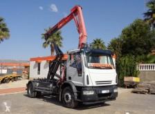 Camión Iveco Eurocargo ML 180 E 28 Gancho portacontenedor usado