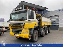Used three-way side tipper truck Ginaf X 4343 LS Hydraulische kipper + Palfinger kraan